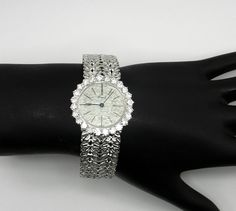 Piaget Lady's White Gold with Diamonds Bezel Wristwatch   From a unique collection of vintage wrist watches at https://www.1stdibs.com/jewelry/watches/wrist-watches/