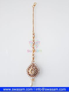 Indian Jewelry Store | Swasam.com: Tikka with Perls and White Stones - Tikka - Jewelry Shop to Buy The Best Indian Jewelry  http://www.swasam.com/jewelry/tikka/tikka-with-perls-and-white-stones-1449.html  #indianjewelry #indian #jewelry #tikka