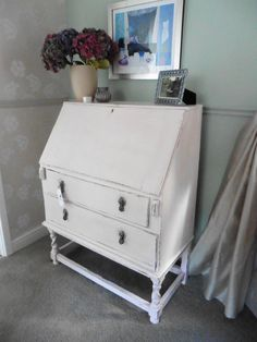 Giselle Rose Bureau by KatyRoseVintage on Etsy Bedroom Corner, Study Space, Pretty Wallpapers, Recycled Furniture, Creative Thinking, Upcycle, Desk, Handmade, Stuff To Buy