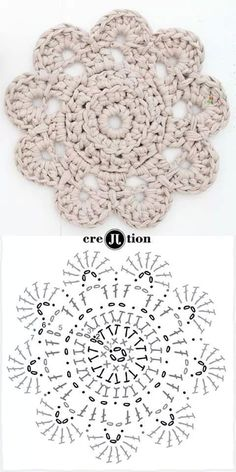 Crochet flower unit