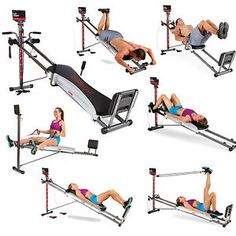 Home Gym Full Body Workout Total 1400 Deluxe Dvd Muscle Exercise Machine