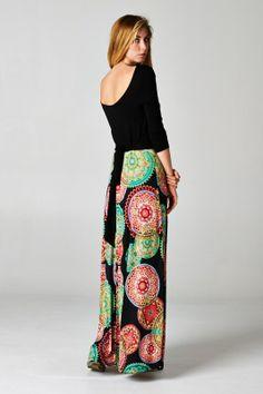 Pretty Spiral Print Dress