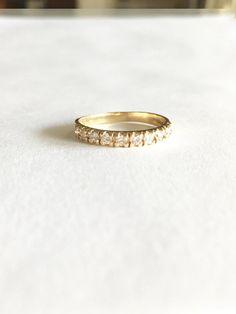 Diamond Wedding Band .35ct Art Deco Wedding Bands 14K Gold