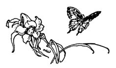 Margaret Ely Webb: Aldine Readers Book One Black Ink Tattoos, Small Tattoos, Cool Tattoos, 3 Tattoo, Tattoo Drawings, Bedroom Wall Collage, Nature Illustration, Aesthetic Stickers, Nature Prints