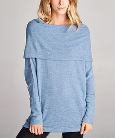 Look what I found on #zulily! Blue Cowl Neck Tunic #zulilyfinds