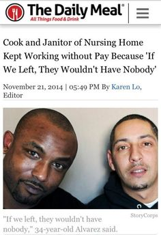 REAL AMERICAN VALUES: We need more people like this - when the Nursing Home closed, the residents were abandoned. But a cook and a janitor stayed, with no pay, using their own money to buy food, caring for the residents around the clock, until authorities FINALLY stepped in.