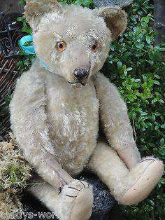 "VERY RARE ANTIQUE WEIERSMUELLER TEDDY BEAR HUMP GERMANY w GROWLER 1910s 18.9"""