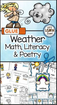 Spring activities for your weather unit! These weather activities include a poetry emergent reader, with a cut and paste version, write the room posters and writing activities and learning cube with graphing activities! Students love creating their own bo Graphing Activities, Weather Activities, Science Activities, Writing Activities, Spring Activities, Science Fun, Teaching Weather, Science Resources, Science Ideas