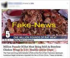 """""""Million Pounds of Rat Meat As Chicken Wings"""" Fake-News Report"""