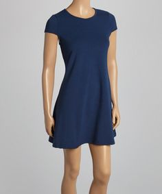 Love this Navy Keyhole-Back Sleeveless Dress on #zulily! #zulilyfinds