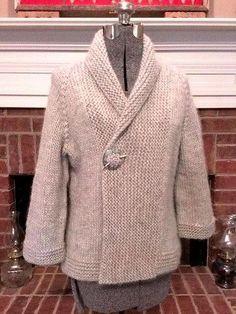 Crochet Hooded Baby Cardigan Making - Knitting Knitting Patterns Free, Knit Patterns, Free Knitting, Free Pattern, Handgestrickte Pullover, Knit Jacket, Knit Bag, Knit Or Crochet, Thread Crochet