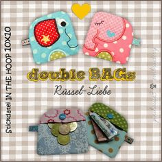 double BAGs ❤ Rüssel-Liebe ❤ Stickdateien 10x10 ITH - ginihouse3