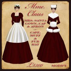 misses santa claus | Montagne Noire - Mme Claus - Mrs Santa two-in-one Victorian Christmas ...