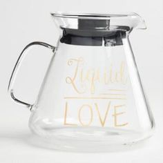 Liquid Love Glass Coffee Carafe