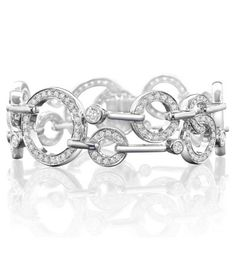 A stunning, elegant bracelet from Boodles' Roulette collection Set with 227 round-brilliant cut diamonds of approximately In white gold Length of bracelet: inches (approx. White Gold Diamond Bracelet, White Gold Diamonds, Diamond Pendant, Diamond Jewelry, Boodles, Gold Platinum, Eternity Ring, Bracelet Set, Diamond Cuts