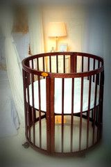 Walnut color Cots, Cot Bedding, Mattress, Toddler Bed, Armchair, Furniture, Design, Home Decor, Child Bed