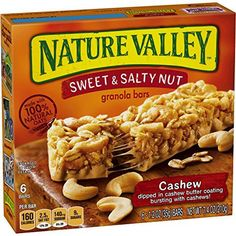 Nature Valley Sweet and Salty Nut Granola Bars, Cashew, 6 Count Nature Valley http://www.amazon.com/dp/B00J2L7Z4M/ref=cm_sw_r_pi_dp_fT21vb0W64BRQ
