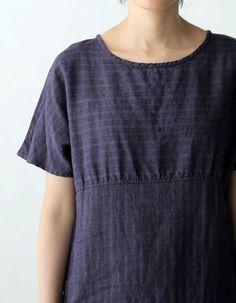 【FLW】 ポリー ドレス パープルストライプ