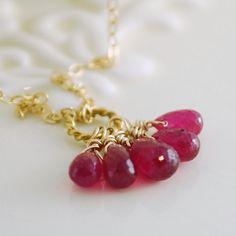 Hot pink burma rubies. Gotta love 'em.