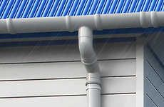 Stormy Roof Drain Pipes