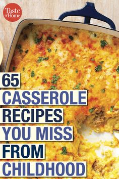 65 Casserole Recipes You Miss from Childhood From cheesy pizza casseroles to tuna noodle and tater tot bakes, these dishes are the perfect way to warm up your day. Gourmet Recipes, Cooking Recipes, Healthy Recipes, Copycat Recipes, Dinner Recipes, Casserole Dishes, Casserole Recipes, Vintage Recipes, Healthy Cooking