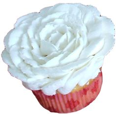 vanilla cupcake decorated with a white buttercream rose - wedding cupcakes York PA.