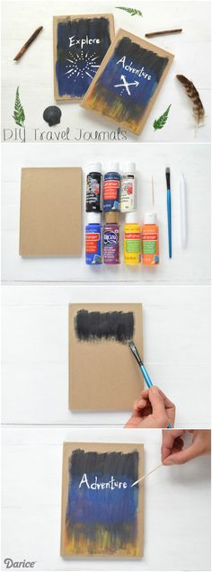 Now that summer is winding down, it's time to preserve those memories. We've found the perfect canvas for creating a DIY journal for travel memories!