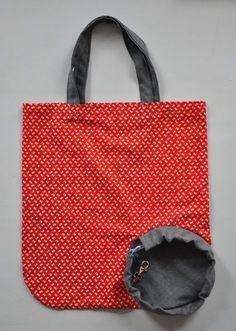 Faltbare Einkaufstasche - http://stoffbuero.wordpress.com/2012/01/16/anleitung-faltbare-einkaufstasche/