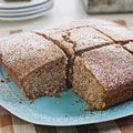 Poppy Seed Cake (by Lauren Chattman for Food & Wine). She has you soak the poppy seeds in hot water and then crush them in a blender to bring out the flavor. Sounds like a good idea to me.
