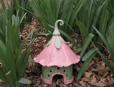 Toad House Handbuilt Ceramic Fairy Gnome garden art gardener's gift hand built ceramic hand-built ceramic garden art Mother's day gift
