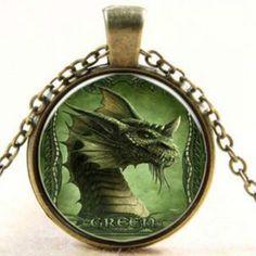 Green Dragon Cabochon Necklace