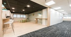 Cafeteria area | Verizon offices in Madrid
