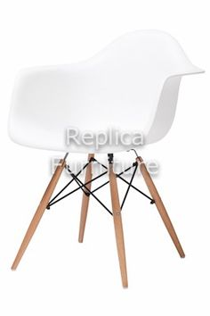 Replica Charles Eames Dining Arm Chair - Wood Legs - Now on sale - $99