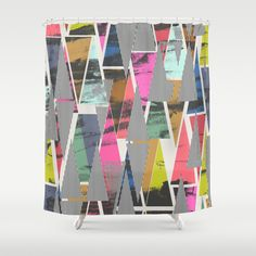 Triangles 21 Shower Curtain
