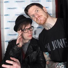 Fall Out Boy (Patrick and Andy)<<I HAVE THAT RADIO STATION IN MY MOM'S CAR! I HEAR THEM DO INTERVIEWS AND AND SUCH ALL THE TIME! I ALSO HEAR ALL TIME LOW ANNOUNCE SONGS ALL THE TIME TOO!!