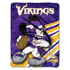 The Northwest Company Minnesota Vikings Mickey Mouse Throw Blanket New Mickey Mouse, Disney Mickey, Minnesota Vikings Football, Football Team, National Football League, Favorite Tv Shows, Cuddling, Nfl, Plush