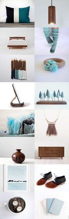 walnut blue by Barbara on Etsy--Pinned+with+TreasuryPin.com Gift Guide, Blue, Etsy