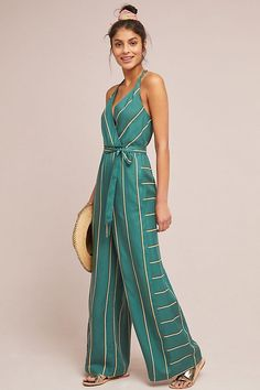 Bring your latest look to the next level with these colorful jumpsuits. Embrace cropped or culotte styles that are trending, or choose floral and print clothes for a casual look Cute Simple Outfits, Simple Dresses, Rompers Women, Jumpsuits For Women, Anthropologie Clothing, Overall, Mode Inspiration, Designer Wedding Dresses, Spring Summer Fashion