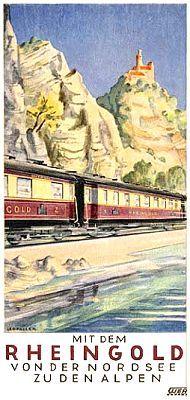 Reichsbahn-Werbung für besodnere Züge