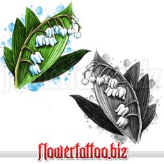 Lily Of The Valley Flower Tattoo Tattoo Flowers Designs Cover Up Tattoos Flower Tattoo Designs, Tattoo Designs For Women, Flower Tattoos, Flower Designs, May Birth Flowers, Grandma Tattoos, Tattoos Familie, Black And White Google, Cute Tats
