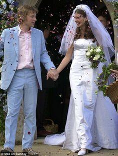 Jamie Oliver casual in pale blue #wedding #bridegroom