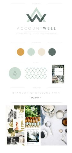 """Account Well"" brand launch and mood board by Lauren Ledbetter, Brand Designer."