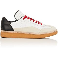 Alexander Wang Women's Eden Sneakers ($395) ❤ liked on Polyvore featuring shoes, sneakers, black, black sneakers, leather low top sneakers, flat sneakers, black leather shoes and lace up flat shoes