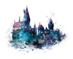 Hogwarts Art Print Hogwarts Castle Poster Harry Potter