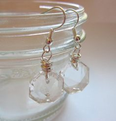 I have a jar full of these crystals- Chandelier Crystal Earrings