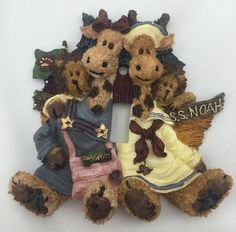 Boyds Bear Noah's Ark Let There Be Light Single Lightswitch Plate Cover 4008 New | eBay