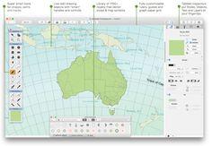 Ortelius 2 for Mac, user interface | Mapdiva
