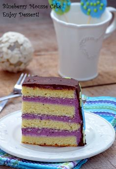 Tort cu mousse de afine Mousse Cake, Healthy Recipes, Healthy Foods, Vanilla Cake, Blueberry, Deserts, Candy, Sweet, Health Foods