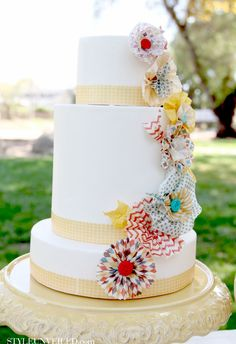Style Unveiled - Style Unveiled   A Wedding Blog - Yellow Carnival Inspired Wedding Cake