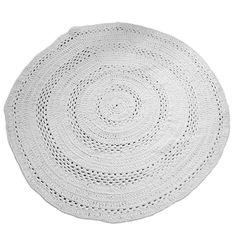 Rond Vloerkleed Crochet - Wit 150cm